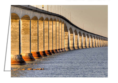 A photo greeting card - Confederation Bridge, New Brunswick.