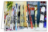 Skis by the window - Greeting Card.