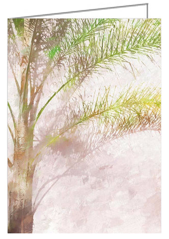 Palm near the wall - Greeting Card.