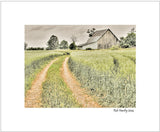 Matted Print - Farm landscape in the Ottawa Valley, along Diamondview Road between Carp and Kinburn, Ontario.