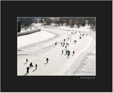 Matted Print - Ottawa is well known for skating in winter on the Rideau Canal and Dow's Lake.