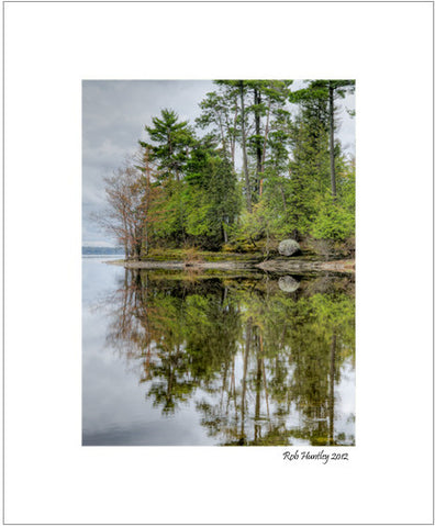 Solitude - Pinhey's Point, Ontario - 8x10 Matted Print. The point viewed from the river side with reflection in the Ottawa River. Pinhey's Point Heritage Property and Park.