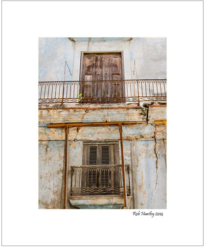 Temporary. Havana, Cuba. Matted print available at Rob's Cards and Prints.
