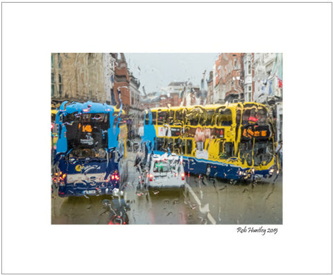 Dublin in the Rain 1. Image taken during a bus tour of Dublin, Ireland.
