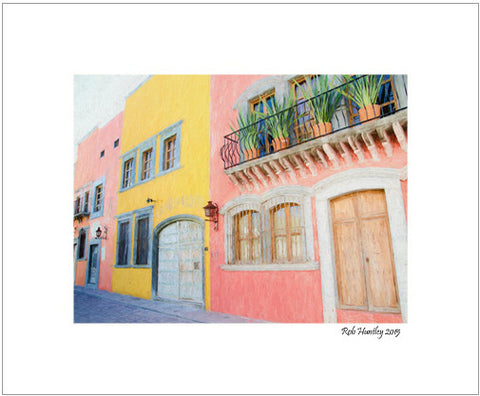 Street in San Miguel de Allende, Mexico - 8x10 Matted Print.