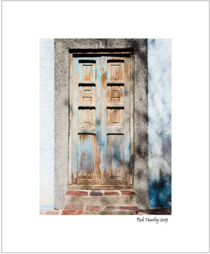 Rustic Door, San Miguel de Allende, Mexico. Matted print available at Rob Huntley Photography.