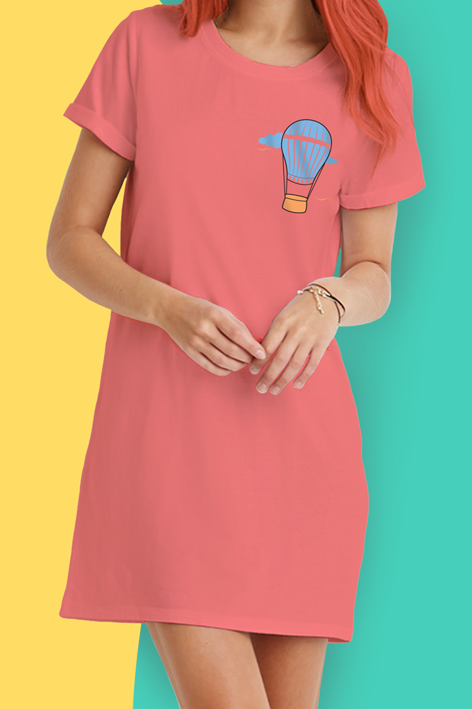 Hot Air Balloon T-Shirt Dress