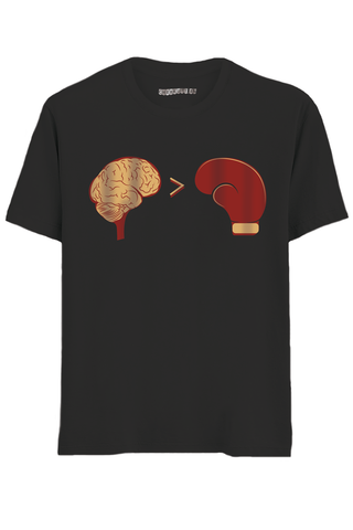 Brain Power Half SleevesT-Shirt