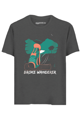 Broke Wanderer Half Sleeves T-Shirt
