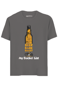 Bucket List Half Sleeves T-Shirt
