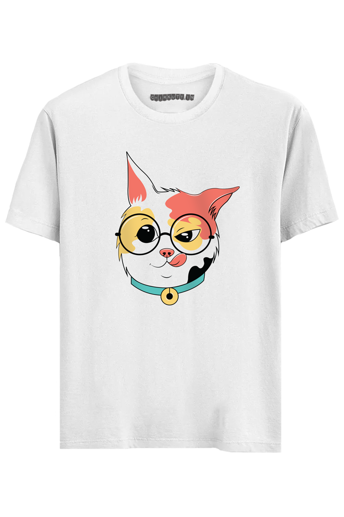 Crazy Kitty Half Sleeves T-Shirt