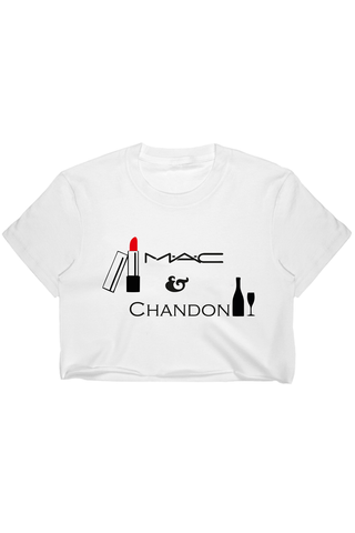 MAC and Chandon Half Sleeves Crop T-Shirt