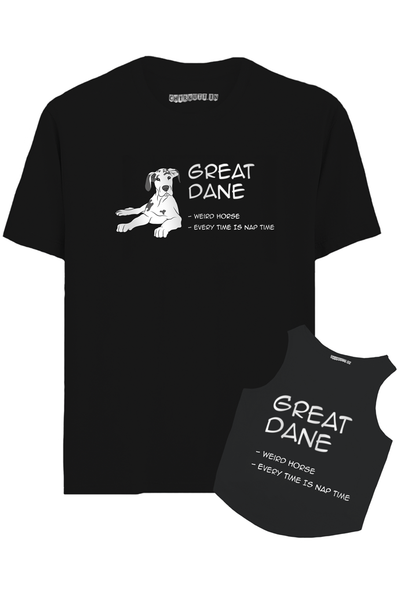 Great Dane Hooman And Dog Combo T-Shirt