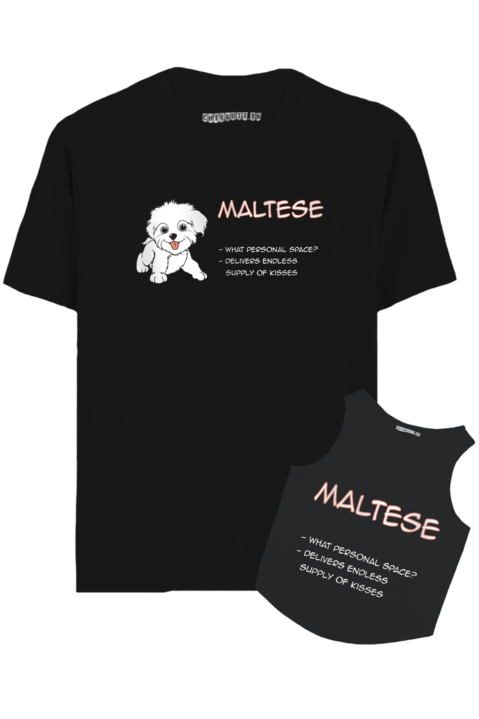 Maltese Hooman And Dog T-Shirt Combo