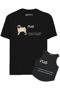 Pug Hooman And Dog Combo T-Shirt