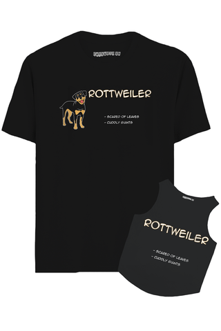Rottweiler Hooman And Dog Combo T-Shirt