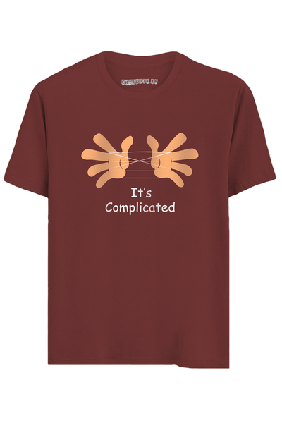 It's Complicated Half Sleeves T-Shirt