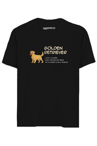 Golden Retriever Half Sleeves T-Shirt