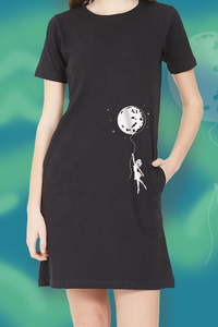 Moon Girl T-Shirt Dress