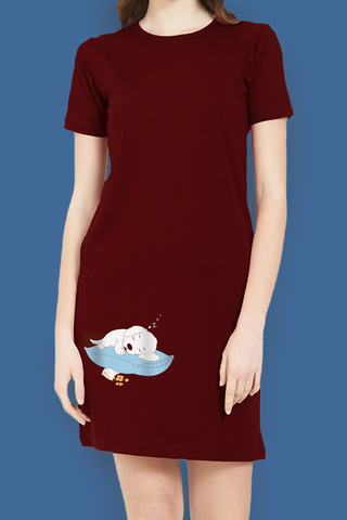 Sleeping Dog T-Shirt Dress