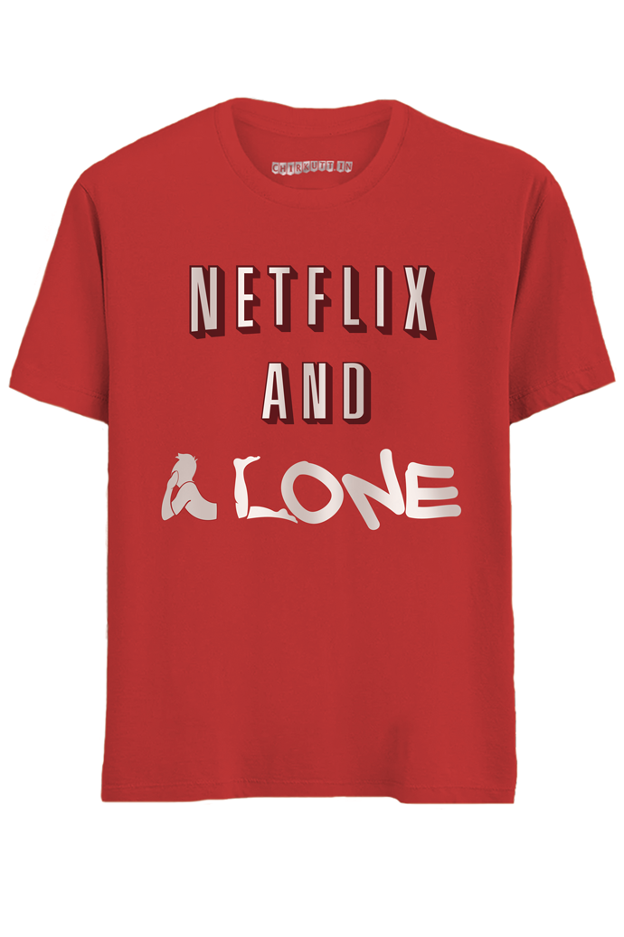 Netflix And Alone Half Sleeves T-Shirt