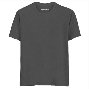 Solid Charcoal Melange Half Sleeves . T-Shirt