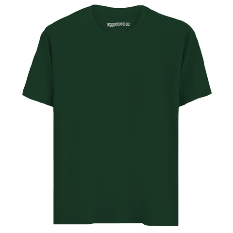 Solid Bottle Green Half Sleeves T-Shirt