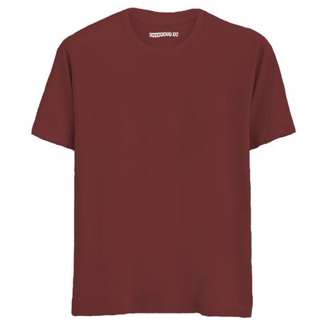 Solid Maroon Half Sleeves T-Shirt