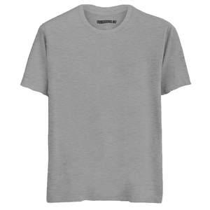 Solid Grey Melange Half Sleeves T-Shirt