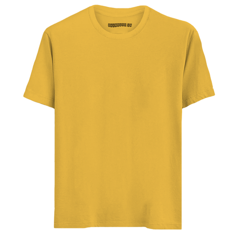 Solid Chrome Yellow Half Sleeves T-Shirt