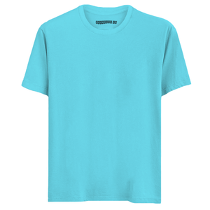 Solid Sea Blue Half Sleeves T-Shirt