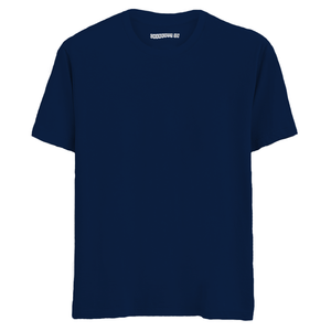 Solid Navy Blue Half Sleeves T-Shirt