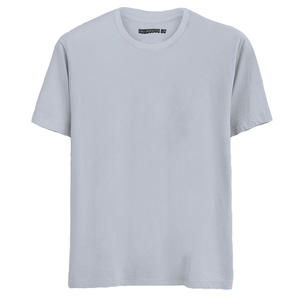 Solid Pearl Grey Half Sleeves T-Shirt