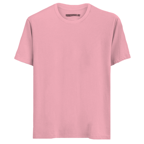 Solid Light Pink Half Sleeves T-Shirt
