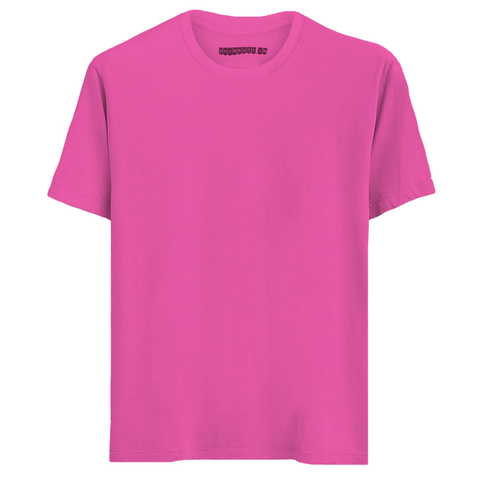Solid Magenta Half Sleeves T-Shirt