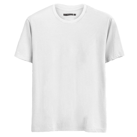 Solid White Half Sleeves T-Shirt