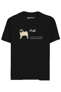 Pug Half Sleeves T-Shirt