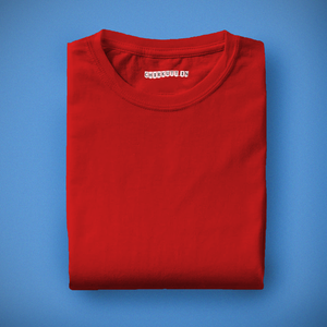 Solid Red Half Sleeves T-Shirt