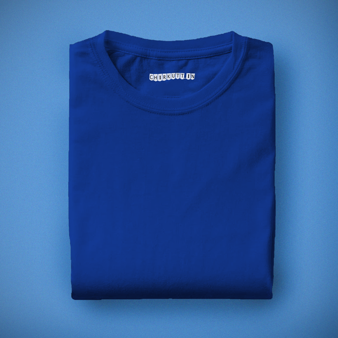 Solid Royal Blue Half Sleeves T-Shirt