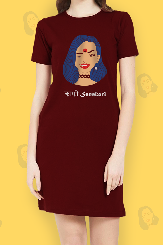 Kaafi Sanskari T-Shirt Dress