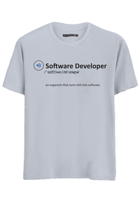 Software Developer half Sleeves T-Shirt