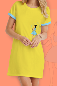 Girl with Umbrella T-Shirt Dress