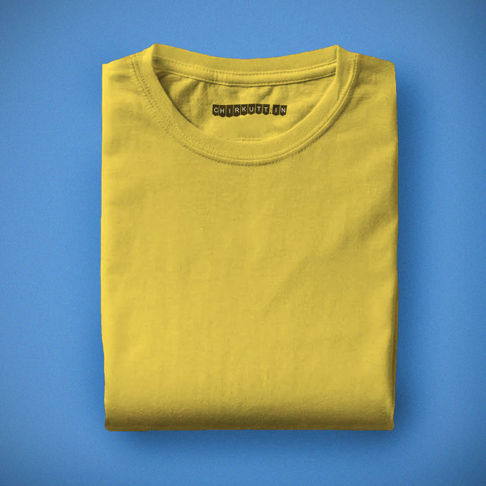 Solid Yellow Half Sleeves T-Shirt