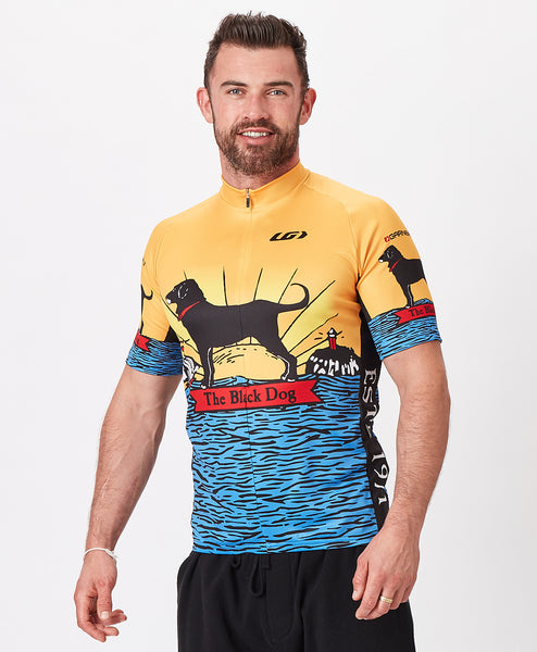 Mens Sunrise Dog Shortsleeve Bike Jersey
