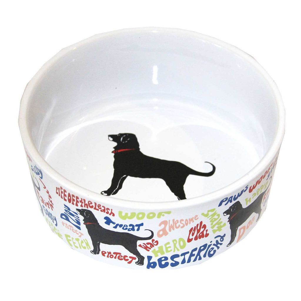 BLACK DOG PET BOWL 7 INCH