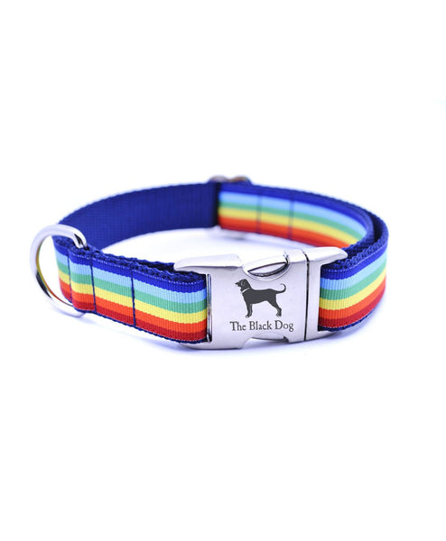 Rainbow Cabana Stripe Collar