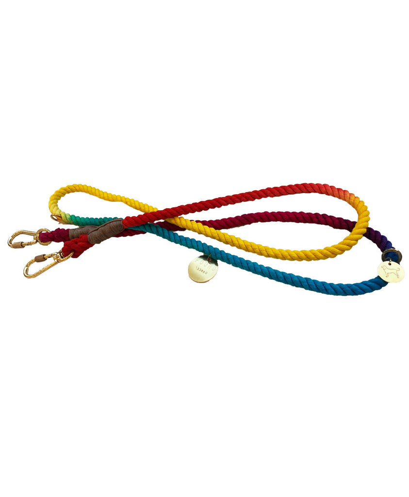 Hand-Dyed Adjustable Rope Lead