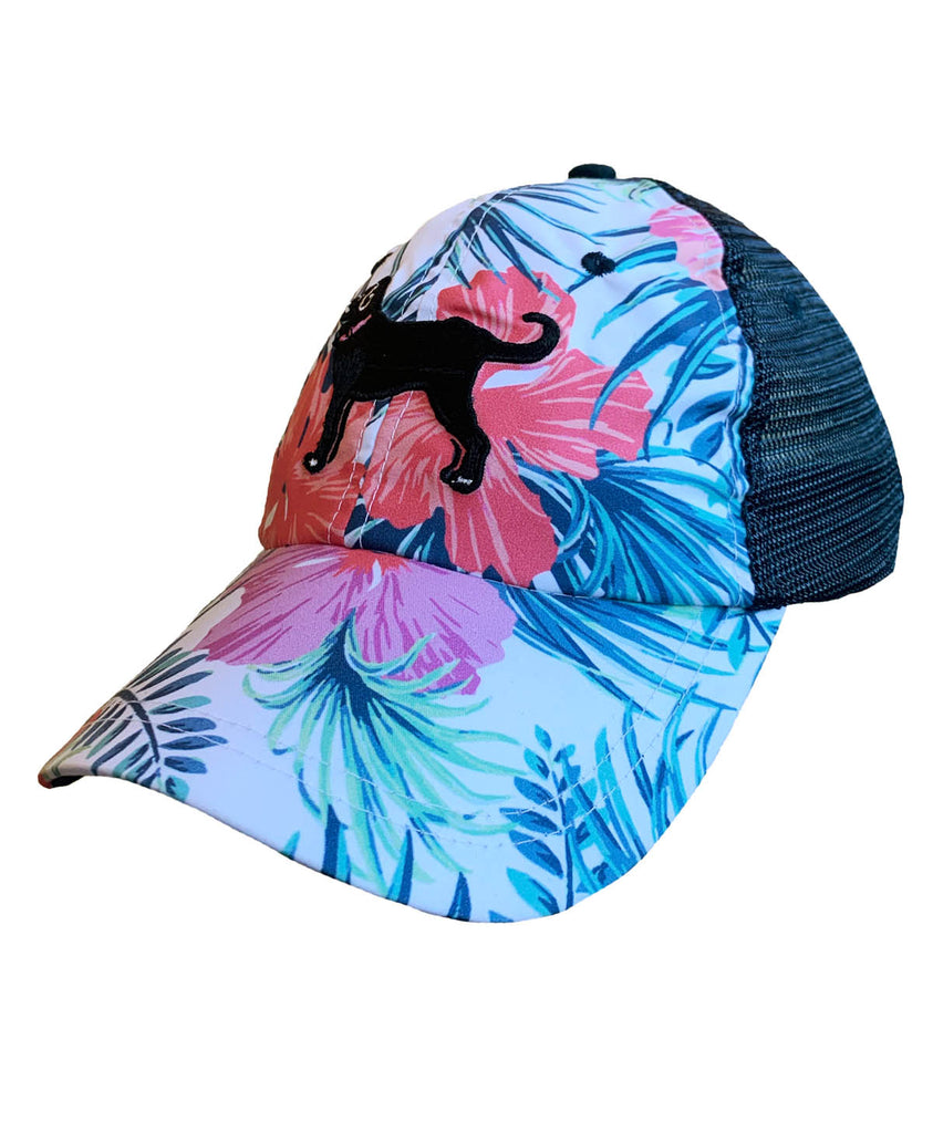 Ladies Faded Floral Mesh Back Hat