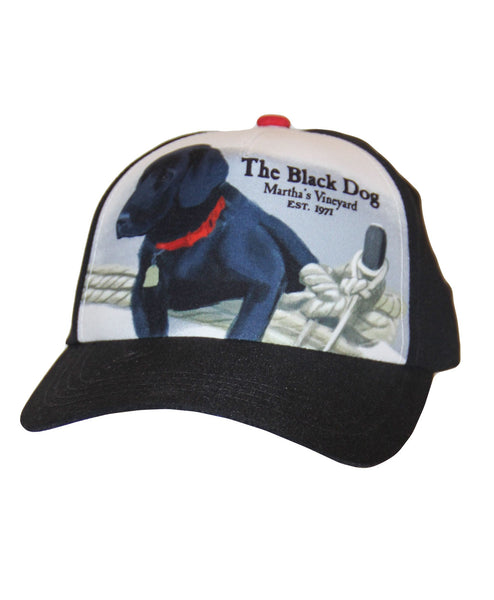 Kids Dog on Boat Mesh Back Hat