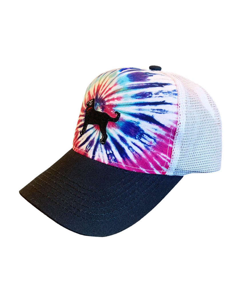 Kids Tie Dye Mesh Back Hat